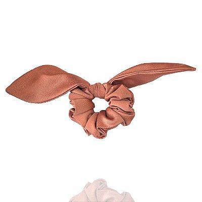 Elástico com Mini Laço de Cetim Rosé Queimado