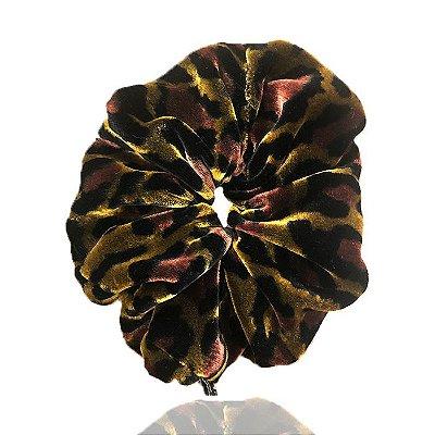 Elástico- Scrunchie de Veludo Onça