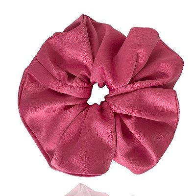 Elástico - Scrunchie de Cetim Pink