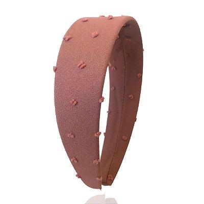 Tiara Flat de Tule de Poá Rosé Queimado