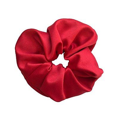Elástico - Scrunchie de Cetim Vermelho