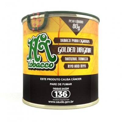 HI TOBACCO | GOLDEN VIRGINIA LATA 80G - TABACO NATURAL