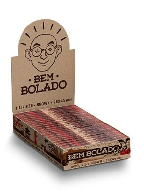 Bem Bolado |  Caixa de Seda 1 1/4  Brown - 25un