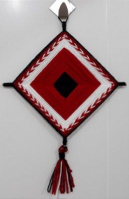 Mandala de Lã Vermelha