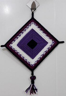 Mandala de Lã Lilás