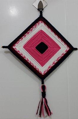 Mandala de Lã Rosa