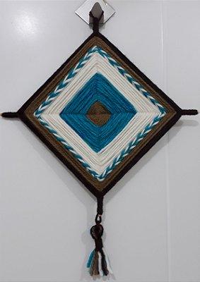 Mandala de Lã Azul Calipso