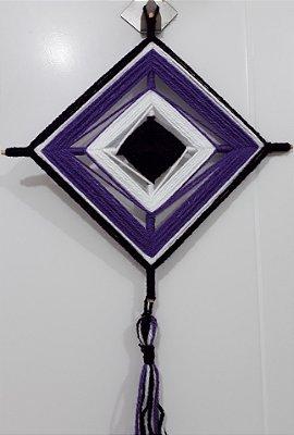 Mandala de Lã Roxa