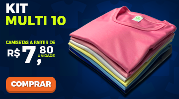Kit Multi 10 Camiseta Lisa Sortida