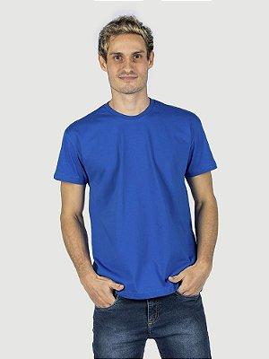 Camiseta 100% algodão penteado azul royal
