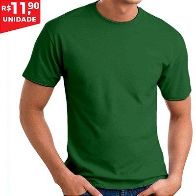 KIT 05 PEÇAS - Camiseta 100% algodão penteado verde bandeira