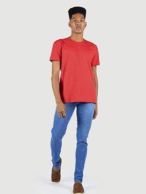 Camiseta 100% algodão penteado vermelho