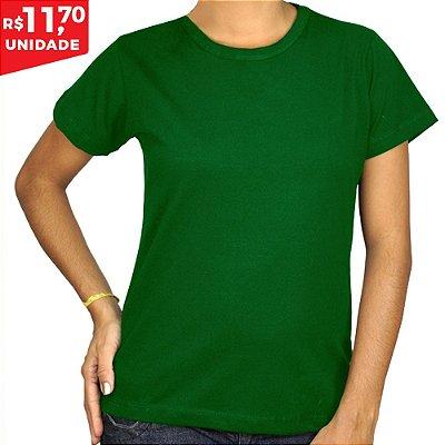 KIT 05 PEÇAS - Baby Look 100% algodão penteado verde bandeira