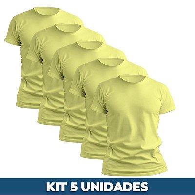 KIT 05 PEÇAS - Camiseta Malha PP amarelo bebê