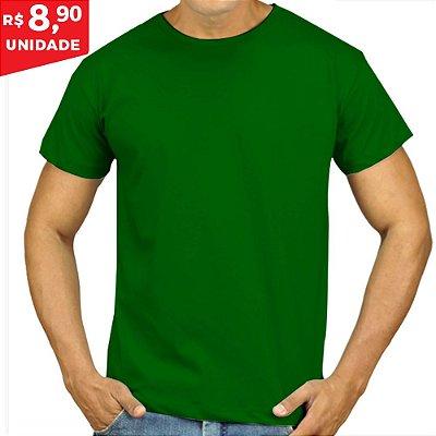 KIT 05 PEÇAS - Camiseta Malha PP verde bandeira