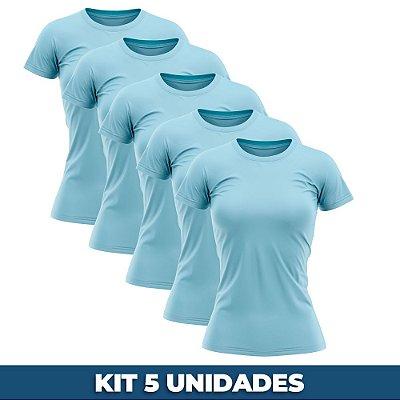 KIT 05 PEÇAS - Baby look helanquinha azul bebê