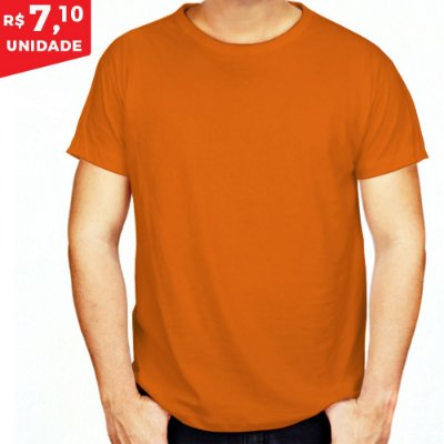 KIT 05 PEÇAS - Camiseta helanquinha laranja
