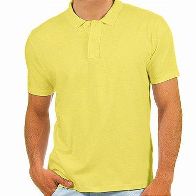 Polo masculina Malha PP amarelo bebê