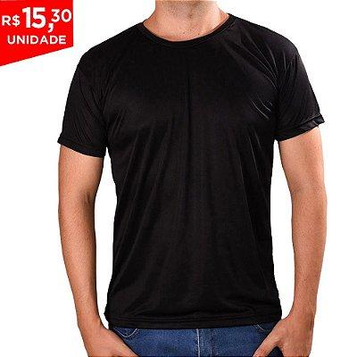 KIT 05 PEÇAS - Camiseta Básica Dry Fit Preto