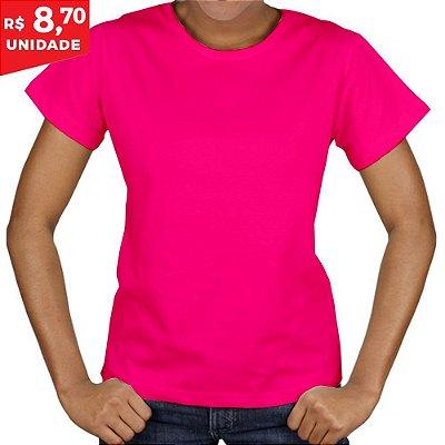 KIT 05 PEÇAS - Baby Look Malha PP rosa pink