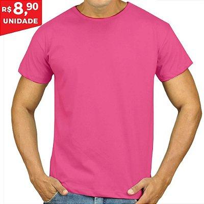 KIT 05 PEÇAS - Camiseta Malha PP rosa chiclete