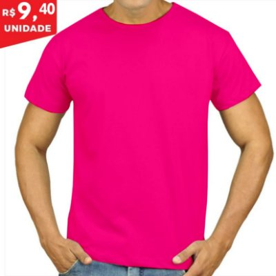 KIT 05 PEÇAS - Camiseta Malha PP rosa pink