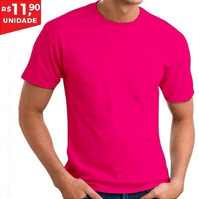 KIT 05 PEÇAS - Camiseta 100% algodão penteado rosa pink