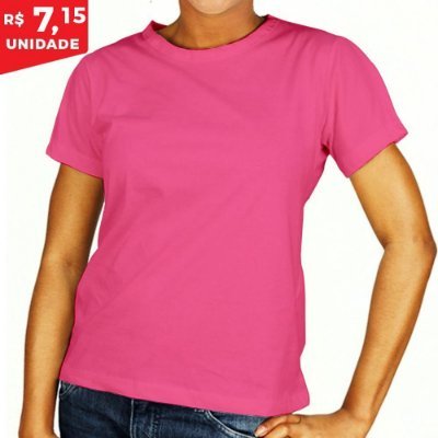 KIT 05 PEÇAS - Baby Look helanquinha rosa chiclete