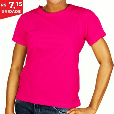 KIT 05 PEÇAS - Baby Look helanquinha rosa pink