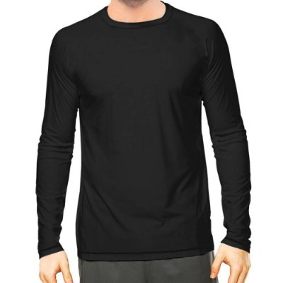 Camisa UV Masculina Preta Fator 50+ Com Proteção Solar