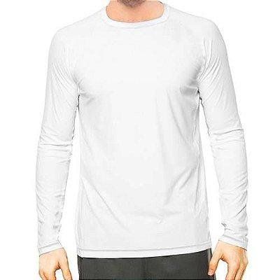 Camisa UV Masculina Branca Fator 50+ Com Proteção Solar