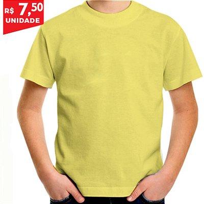 KIT 05 PEÇAS - Camiseta infantil Malha PP amarelo bebê