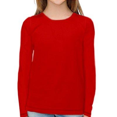 Camisa UV Infantil Unissex Vermelho Fator 50+ Com Proteção Solar