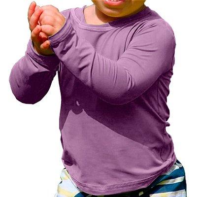Camisa UV Baby Unissex Lilás Fator 50+ Com Proteção Solar