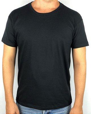 KIT 05 PEÇAS - Camiseta TOP 100% algodão penteado menegotti preto