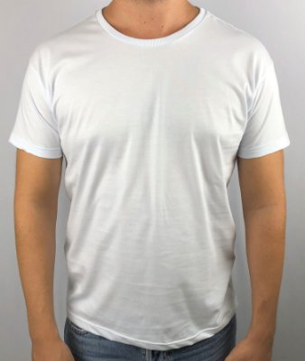 KIT 05 PEÇAS - Camiseta TOP 100% algodão penteado menegotti branco