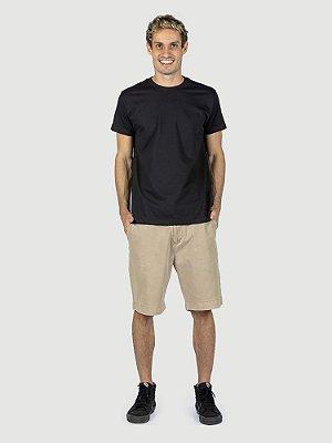 KIT 05 PEÇAS - Camiseta malha Premium 100% algodão penteado preto