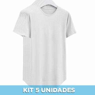 KIT 05 PEÇAS - Long malha Premium 100% algodão penteado branco