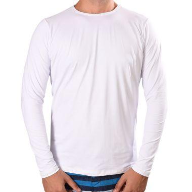 Kit 03 peças - Camisa UV Fator 50+ Com Proteção Solar Branca