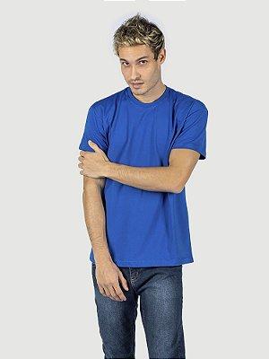 KIT 05 PEÇAS - Camiseta malha 100% algodão penteado azul royal