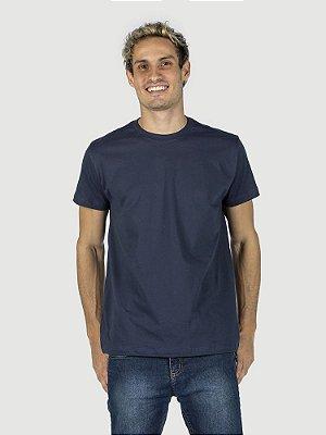 Camiseta malha Premium 100% algodão penteado azul marinho