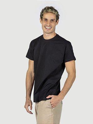 Camiseta malha Premium 100% algodão penteado preto