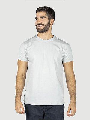 Camiseta malha Premium 100% algodão penteado cinza