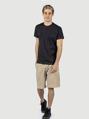 Kit 3 Camisas Pretas Masculinas Básica Atacado Algodão 30.1 Premium