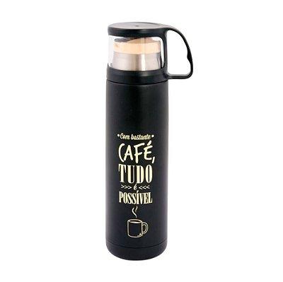 GARRAFA TÉRMICA COM COPO CAFÉ