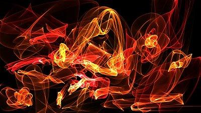 Quadro Decorativo Poster Abstrato Fire em Canvas
