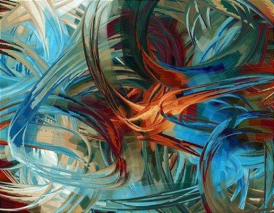 Quadro Decorativo Poster Abstrato Azul