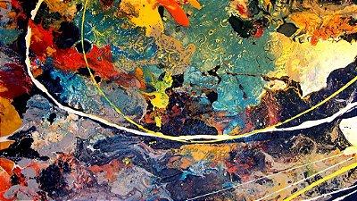 Quadro Decorativo Poster Abstrato Buraco em Canvas