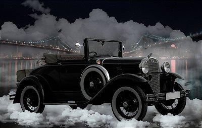 Quadro Decorativo Poster Carro Nuvens