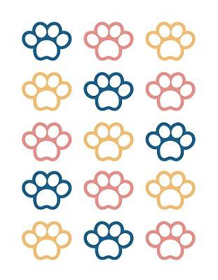 Quadro Decorativo Poster Pata de Cachorro